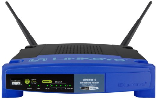 Linksys WRT54GL-EU Router Wireless-G, 4 Porte Ethernet, Nero